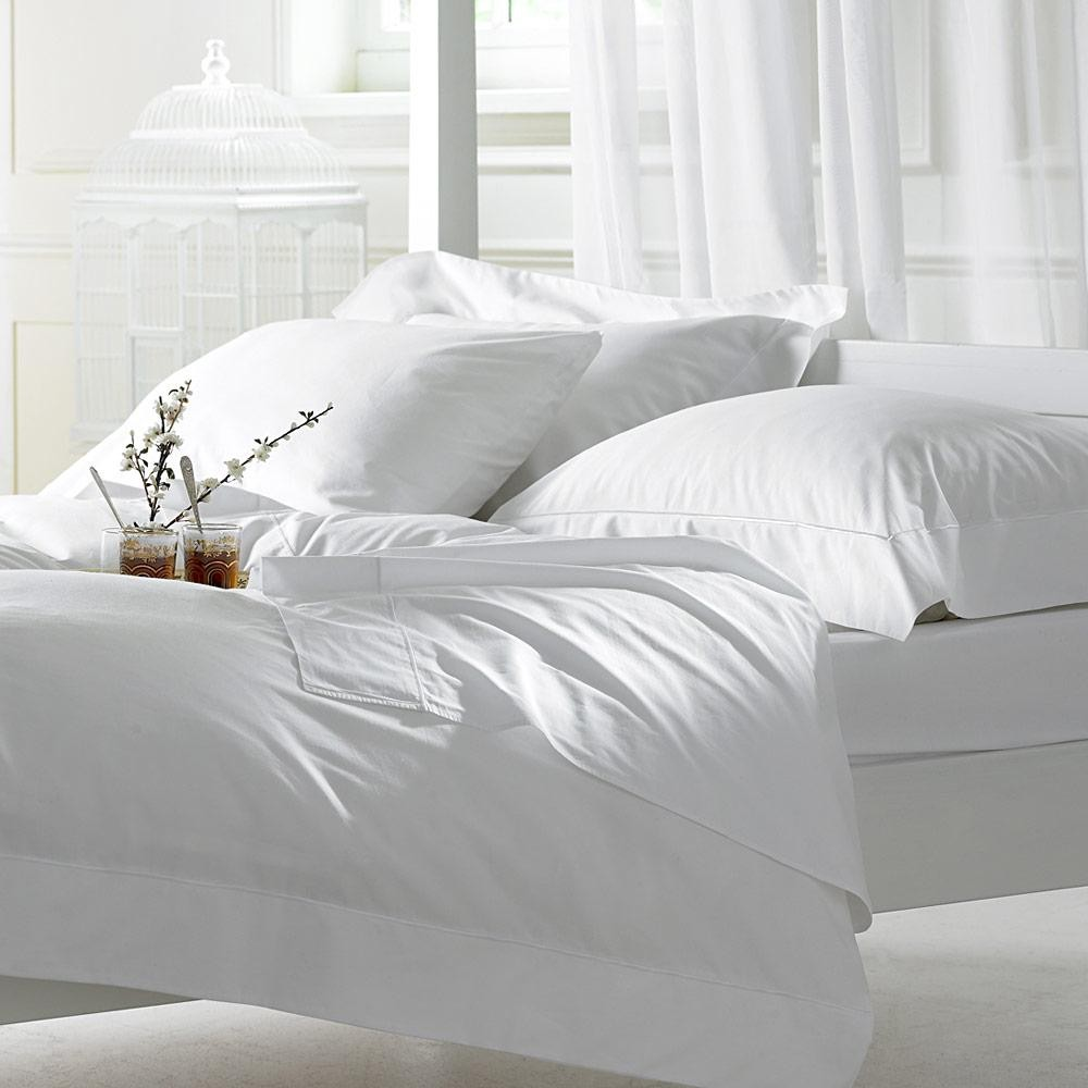Bellissimo 400 TC Cotton Duvet Cover Sets White
