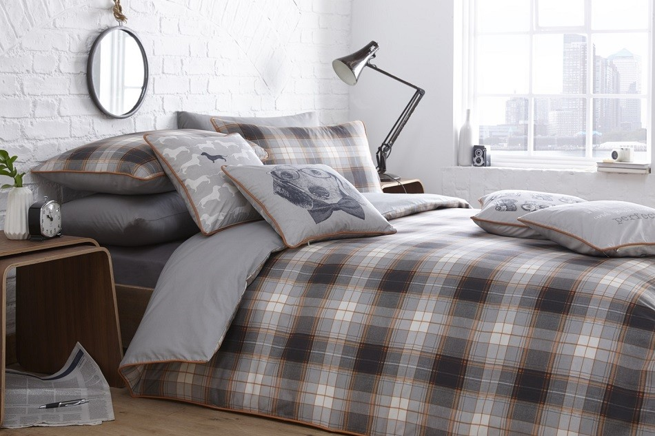 Alnwick Check Duvet Set - Racing Green