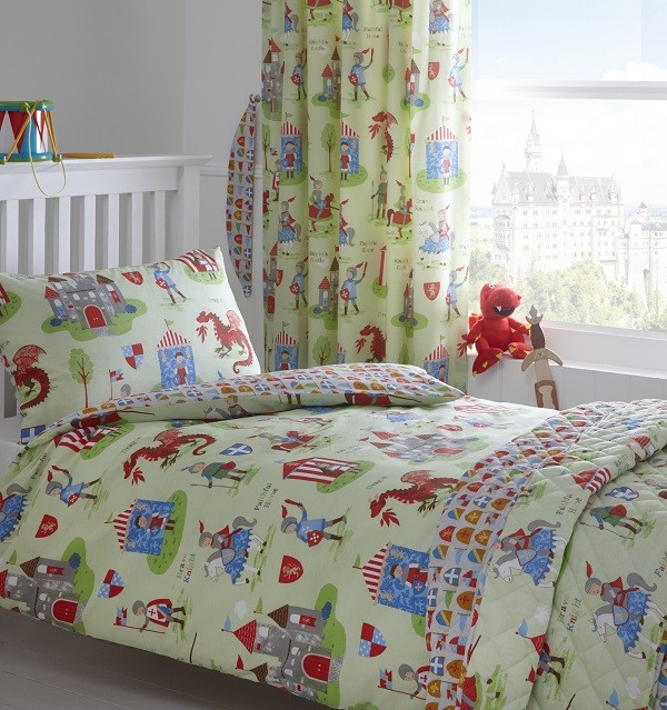 Knights and Dragon Toddler Duvet Set