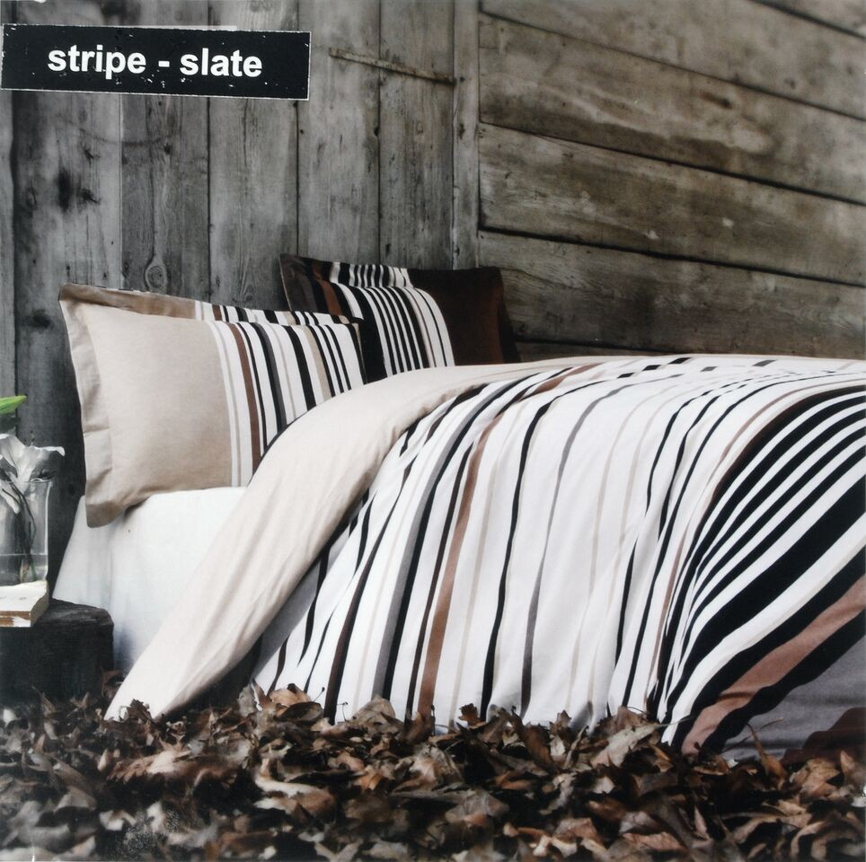 Stripe 100% Cotton Duvet Set (Available in 2 Colours)