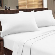 100% Cotton 1000 TC Fitted Dorchester Sheets White