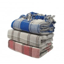Check Cotton Throw (Available in 3 Sizes and 3 Colours)