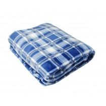 Blue/Grey Check Throw (Available in 2 Sizes)
