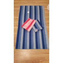 Turkish Velour Stripe Beach Towel - 90 x 155cm (Available in 2 Colours)