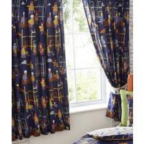 "Kids Lined Buildng Site Curtains - 66"" x 72"""