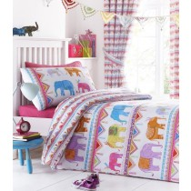 Carnival Elephants Single Duvet Set