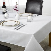 Chequers Table Cloth White (2 Sizes Available)