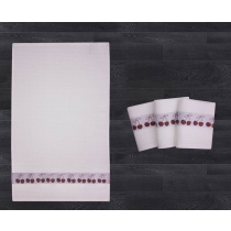 Waffle Fruit Border 2 Pack Tea Towel (6 Designs Available)