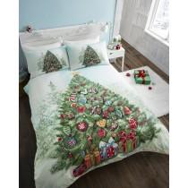 Single Christmas Tree Polycotton Duvet Set