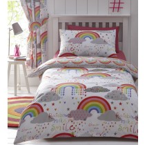Clouds & Rainbows Single Duvet Set