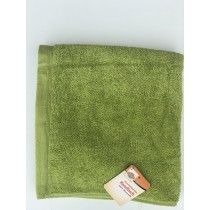 Green 100% Cotton Terry Dobby Towel (Available in 5 Sizes)