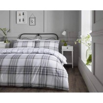 Elgin Check Duvet Set Natural (Available in 5 Colours - 2 New Colours Out Now!)