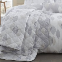 Etched Leaves Quilted Throwover (Available in 3 Colours)