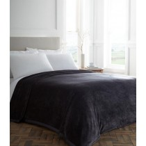 Plush Blanket with Satin Trim (Available in 4 colours and 3 sizes)