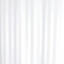 Luxury Satin Stripe Shower Curtain White