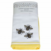 Pack of 6 Luxury 2 Pack Waffle Embroidered Tea Towels (2 New Designs Available!)