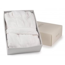 Frette White Hooded Towelling Robe - Boxed