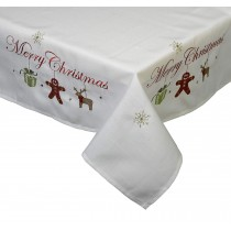 """31"""" x 31"""" Merry Christmas Topper Tablecloth"""