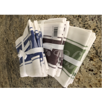 3 Pack Coffee Flat Weave Jacquard Tea Towel (Available in 4 Colours)