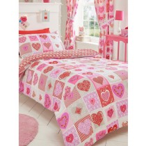 Lace Hearts Double Duvet Set