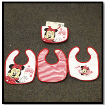 Minnie 3 Pack Bib Set