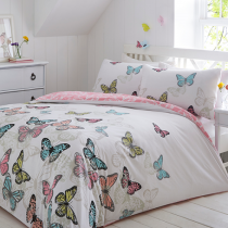Bright Butterflies Reversible Duvet Set