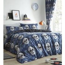 Pixel Skulls Single Duvet Set