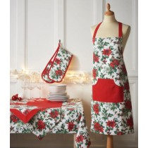 Poinsettia Trail Tablecloth (Available in 3 Sizes)