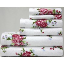 Printed Rose Towel Range (Available in 2 Colours)