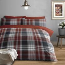 Stocksbridge Brushed Cotton Duvet Set (Colour & Size Options Available)