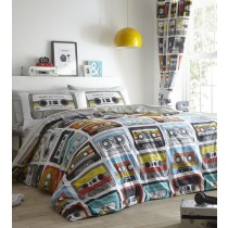 Retro Cassettes Single Duvet Set