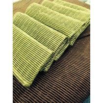 Luxury Ribbed Bed Runner Green - 65 x 200cm