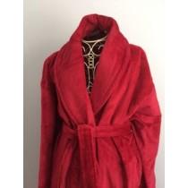 XXL Burgundy Velour Robe