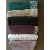 Pack of 6 Assorted Stocks Turkish Bath Towel