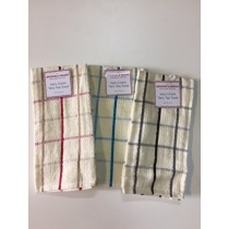 Pack of 12 Kerry Check Tea Towel (Available in 3 Colours)