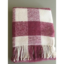 Portuguese Wool Blend Throw Toronto Check (Available in 3 Colours)