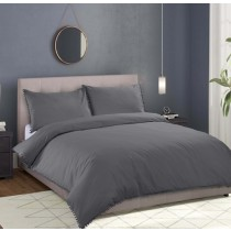 Sandringham Pom Pom Duvet Set (Available in 4 Colours)