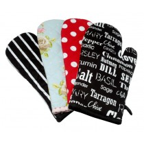 Pack of 6 Assorted Single Oven Gloves