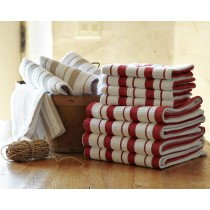 6 Pack Sonoma 3 Pack Basket Weave Tea Towel Assorted Colours