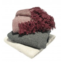 Herringbone Throw (Available in 3 Sizes and 3 Colours)