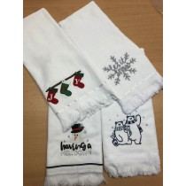 Christmas Pesh Terry Embroidered Tea Towel (4 Designs Available)
