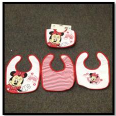 Minnie 3 Pack Bib Set