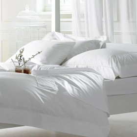Bellissimo 400 TC Cotton Flat Sheets White
