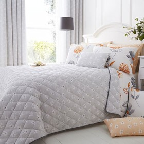 Caroline Quilted Throwover - Grey (200 x 200cm)