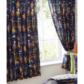"""Kids Lined Buildng Site Curtains - 66"""" x 72"""""""